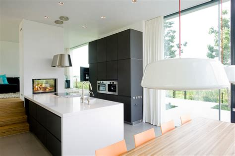dutch kitchen design single family dutch home combines flowing style with