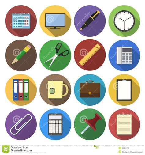 que es materiales de oficina icono redondo de materiales de oficina en dise 241 o plano