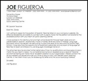 spanish teacher cover letter sample livecareer
