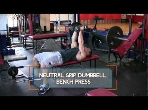 neutral grip bench press neutral grip dumbbell bench press exercise com