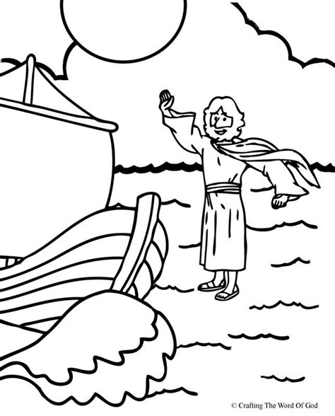 jesus stills the storm coloring page az coloring pages