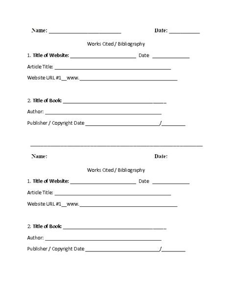 school worksheet template 16 best images about mla citation on high