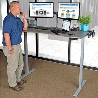 standing station desk workwise standing desks buying guide tripp lite