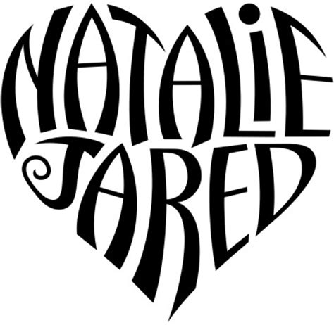 heart name tattoo generator free quot natalie quot quot jared quot heart design a custom design of the