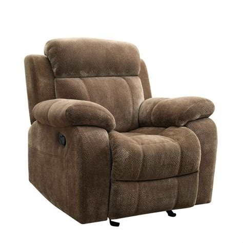 coaster recliners coaster myleene motion recliner chair in padded velvet