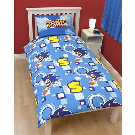 sonic bedding new sonic the hedgehog spin duvet cover official bedding