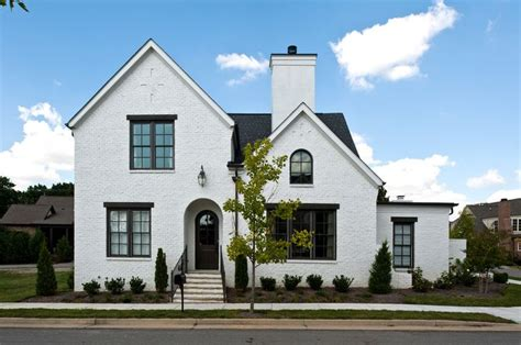 white house with black windows delightful black windows home designing tips traditional