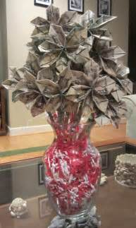 money bouquet on money flowers dollar origami and dollar bill cake