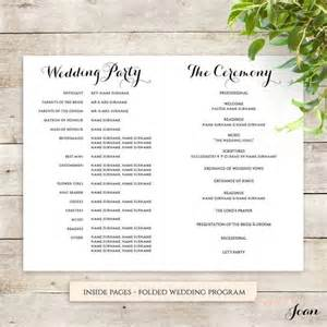 Wedding Order Of Service Template by Byron Printable Wedding Order Of Service Template