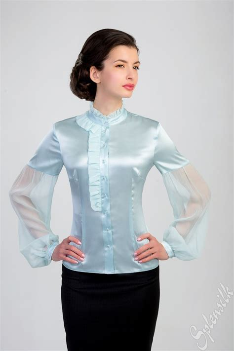 9 Beautiful Blouses For by 212 Best Images About Blue Green Satin Blouse On