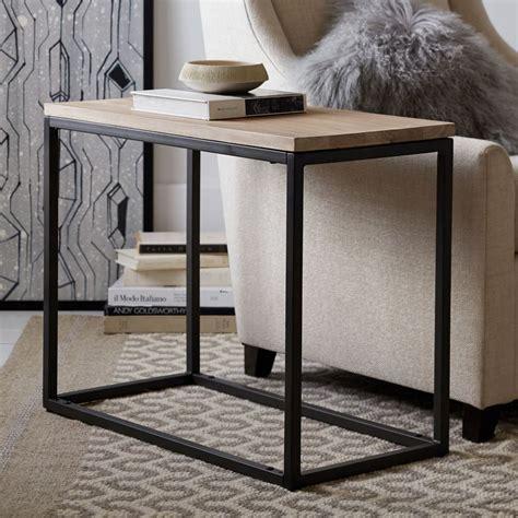 box frame narrow side table whitewashed mango