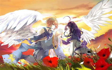 wallpaper anime angel boy anime angel boy and girl wallpaper siudy net