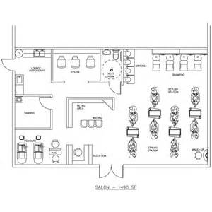 salon layouts floor plans beauty salon floor plan design layout 1490 square foot