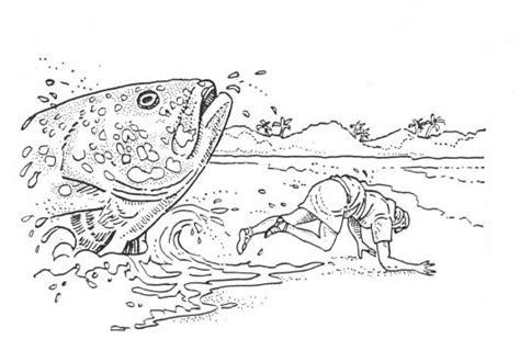 jonas y el gran pez dibujos para colorear jonas liberado dibujo de jonas escupido por el gran pez