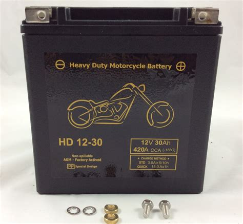Batterie Moto 12v 6315 by Batteria Moto Harley Davidson 12v 30ah 420cca Hd12 30