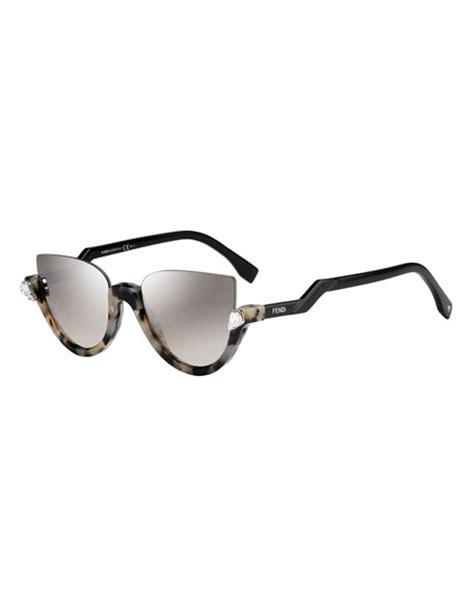 fendi blink half cat eye sunglasses