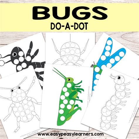 a dot markers paint daubers activity book bugs learn as you play do a dot page a day animals books bug do a dot printables easy peasy learners