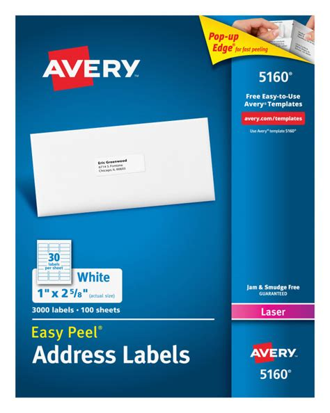 Avery Labels Postcard Size