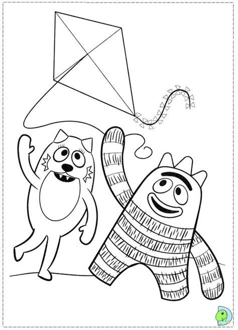 yo gabba gabba coloring sheets az coloring pages