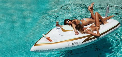 donzi boat clothing funboy the world s finest luxury pool floats