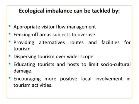Ecological Imbalance Essay by Overview Of Tourism Planning And Development