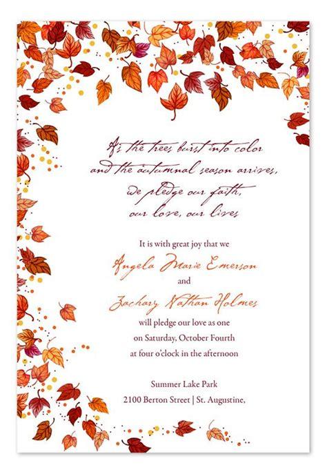 Best 25 Fall Wedding Invitations Ideas On Pinterest Fall Wedding Colors Navy And Burgundy Fall Invitation Templates Free