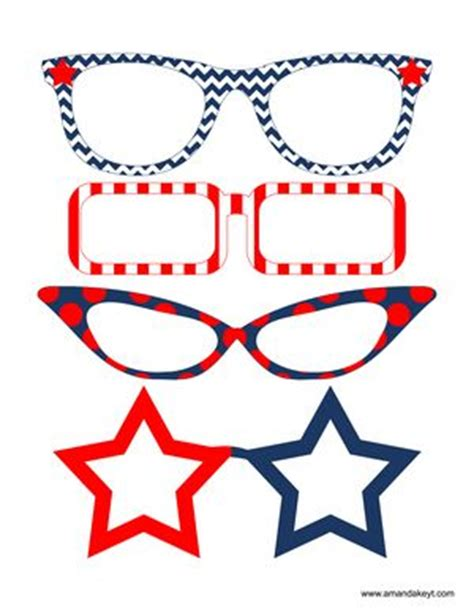 printable fourth of july photo booth props 4th of july party free printable photo booth props at www