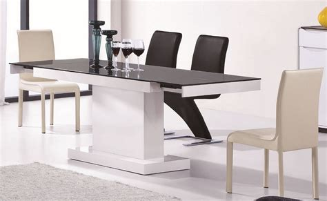 modern extendable dining table modrest 2016 modern white and black extendable dining table