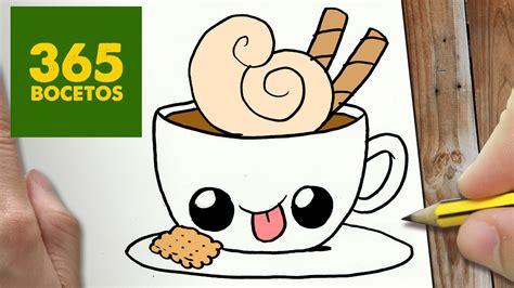 imagenes de niños kawaii como dibujar cafe kawaii paso a paso dibujos kawaii