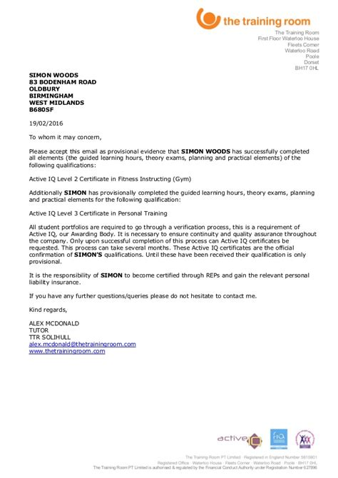 certification letter for completion course completion letter simon