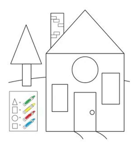 house shape coloring pages fun shapes coloring page 171 preschool and homeschool