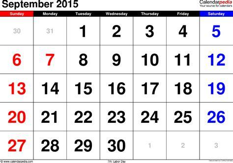 Calendar 2015 September Uk September 2015 Calendars For Word Excel Pdf