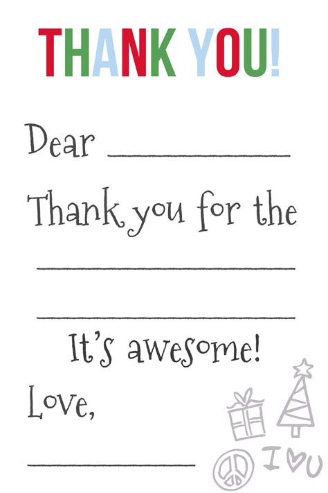 Thank You Letter Card Template thank you card template thank you cards free print for