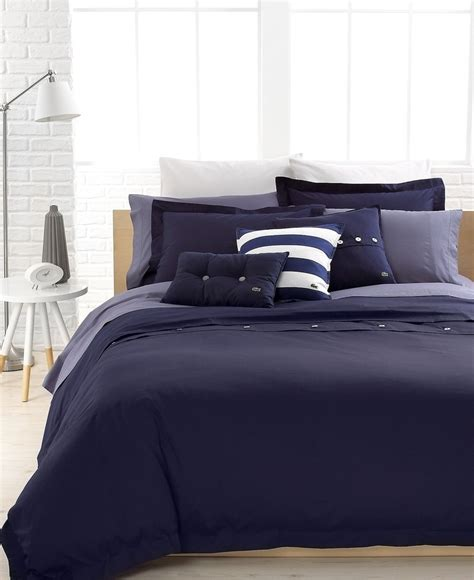 lacoste comforters lacoste solid peacoat brushed twill comforter and duvet