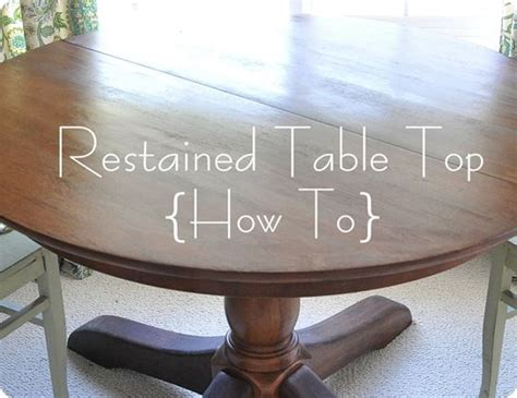 Restain Dining Table Really Detailed On Restoring A Table Recommendations On Preconditioning Mixing