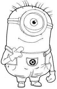 minion pictures to color free bob minion coloring pages