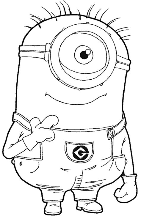 Free Bob Minion Coloring Pages Despicable Me Minions Coloring Pages