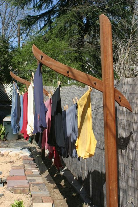 Garden Clothes Line Clothes Line Posts Garden Sculpture Liberated Gardener