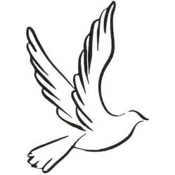 Small Dove Outline by Dove Line Drawing Clipart Best