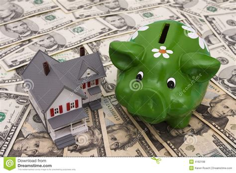 bank loan for house downpayment down payment and mortgage royalty free stock photos image 4162198