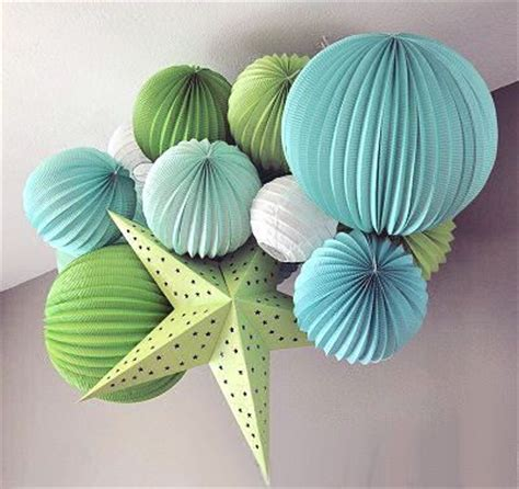 How To Make Accordion Paper Lanterns - 19cm accordion pleated paper lanterns watermelon lantern