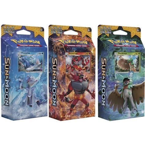where to buy card decks sun moon theme deck bundle of 3 decidueye incineroar