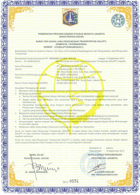 siujpt surat izin usaha jasa pengurusan transportasi servis laptop