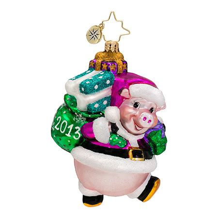 2013 dated christmas ornaments radko ornaments pig dated 2013 ornament ham