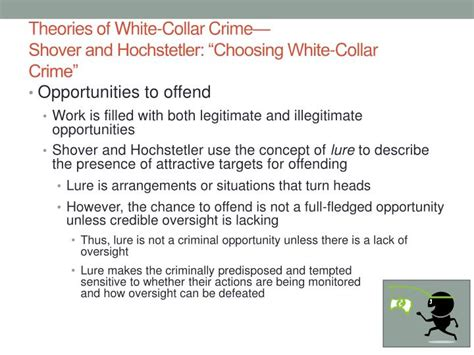 white collar crime an opportunity perspective criminology and justice studies books ppt theories of white collar crime powerpoint