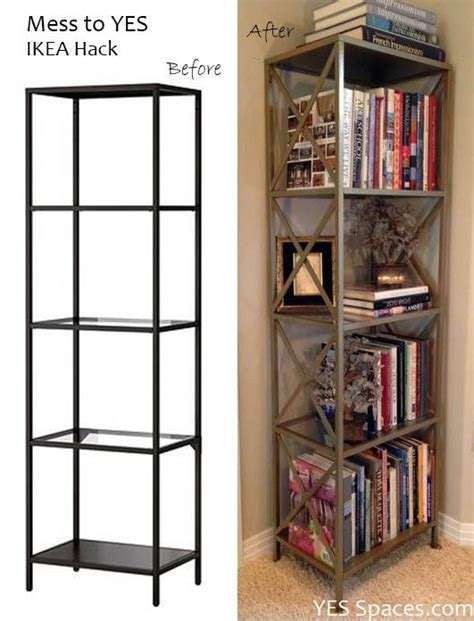 libreria laiva ikea here is a simple ikea hack to diy a gorgeous gold bookcase