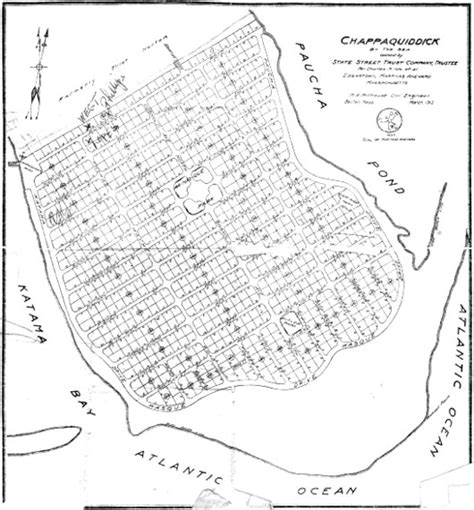 Chappaquiddick Map Century Chappy Development Plan Swims With The Fishes The Vineyard Gazette Martha S