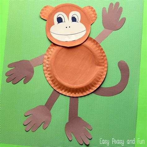 How To Make A Monkey Out Of Paper - paper plate monkey paper plate crafts for