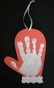 christmas crafts hand print dump a day