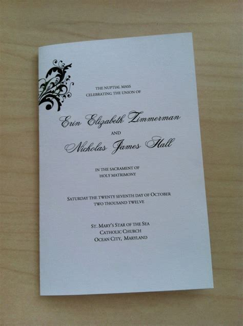 funeral mass booklet template free best photos of catholic mass wedding program